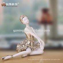 Benutzerdefinierte schöne elegante Ballett Schönheit Tänzer Harz Engel Handwerk Figur Statue