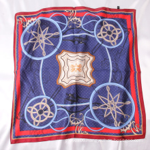 Wholesale 2021 New Style Temperament Neck Shawl Polyester Silk Satin Square Scarf For Women