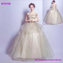 China-nach Maß Hochzeits-Kleid-niedriger Preis Xiamen Hochzeits-Kleid