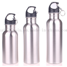 OEM Logo Advertising Sport Climbing Stainless Steel Bottle with Carabiner