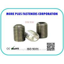 DIN916 ISO4028 con el punto de la taza