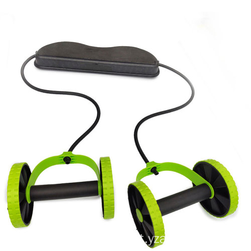 Muscle Exercise Home Fitness Equipment Double Abdomen Wheel Ab Power Roller Wheel, Ab Wheel Roller