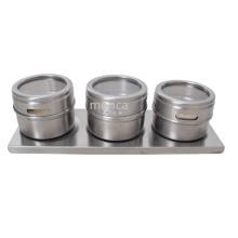 Acero inoxidable magnético Unique Spice Jars Cruet