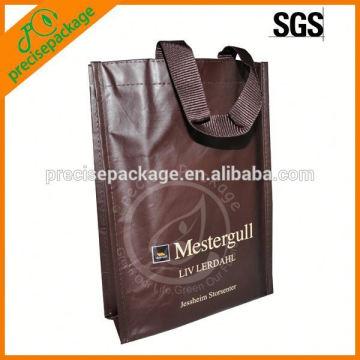 Tamanho pequeno saco de vinho não tecido laminado para promoção