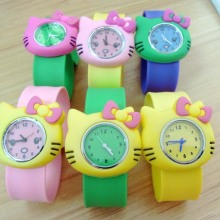 Cute Child Kids Silicone Cartoon Cat Wrist Watches