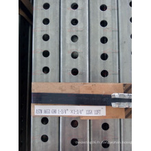 China Factory Supply Perforated Steel Square Tracffic Sign Postes avec le meilleur prix