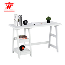 Latest Luxury Wooden White Office Desk With Shelf
