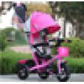 2016 лучшее качество низкая цена навес коляска трехколесный велосипед / детская коляска трехколесный велосипед 3-в-1 / детская коляска оптом / детский трехколесный велосипед 2016