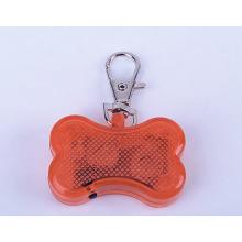 Graveur d'étiquette de chien d'animal familier de forme d'os de LED avec la chaîne d'étiquette de chien