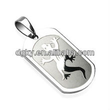 SPIKES Surgical Steel Gecko Engraved Pendant Piercing