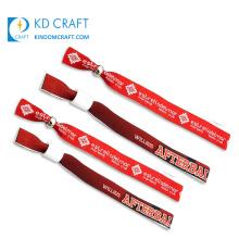 Custom made cheap sublimation printing fabric festival wristband