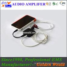 personal sound amplifier headphone amplifier rechargeable battery amplifier