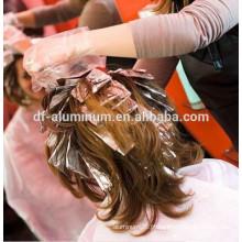 Papel de folha de alumínio de cabelo, rolo de folha de alumínio prateado para fabricante de destaque de cabelo