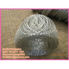 BT0 22 security cross type razor barbed wire mesh concertina fencing