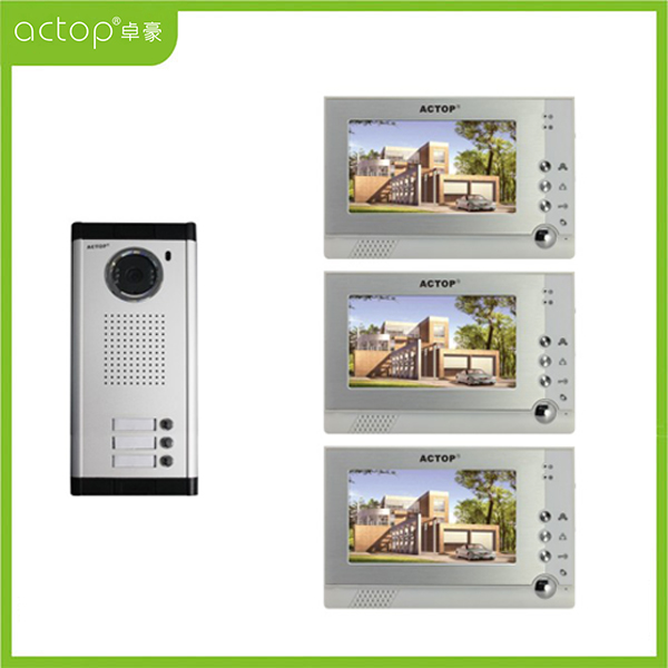 Video Intercom System for 3-apartments