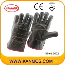 Dark Furniture Cowhide Leather Industrial Safety Work Gloves (31012)