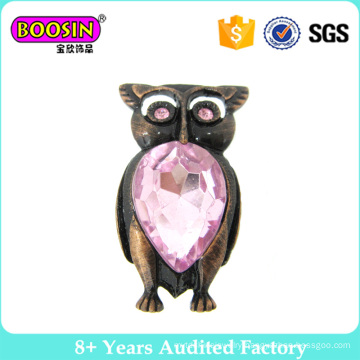 Hot Selling Night Owl Brooch with Crystal