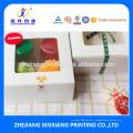 Изготовленный на заказ Цвет напечатал ручной работы Свадебные коробки упаковки еды для пирожного