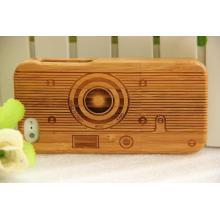 La funda elegante de la caja del teléfono de madera de la elegancia para iPhone Bamboo Wood