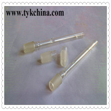 Klar Borosilikatglas Umrandet Kegel Socket Adapter für Shisha