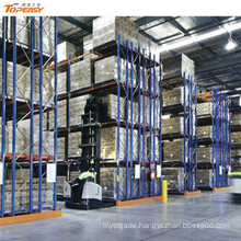 warehouse storage metal industrial double-deep pallet rack
