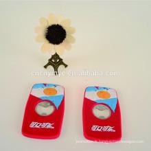 Promotionnels magnétiques 3D soft pvc vin ouvre-porte