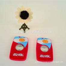 Promotional magnetic 3D soft pvc wine opener
