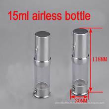 15ml Bouteille sans cosmétiques en aluminium en caoutchouc, bouteille de sérum / lotion / crème pour les yeux