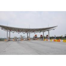 Stahl Space Frame Struktur Dachsystem für Mautstelle aus China Hersteller verwendet