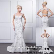 KB16021 Frauen-Partei-Abschlussball-Kleid-reale Beispiel-Spitze-graue Hülle öffnen sich zurück Meerjungfrau-Abend-Kleid 2016 Vestido De Noiva