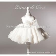 new fashion white color flower girl dress girl dress 2-6 years for wedding