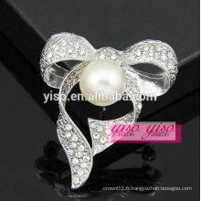 Grande perle broche à strass pas cher pour le mariage en vrac