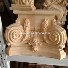 Mueble parte talla en madera decorativa de madera capiteles