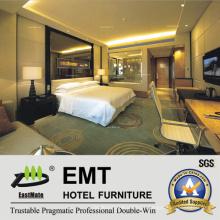 Cabideira de vidro de luxo na parede / mobiliário de quarto de quarto de tamanho duplo (EMT-A1202)