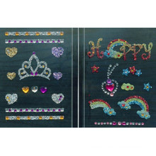 Temporary glitter powder body tattoo sticker with the high grade