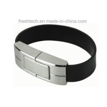 Fashionable Leather Steel Bracelet USB Flash Drive (D551)