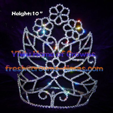Rhinestone Crowns In Big Flower Shaped