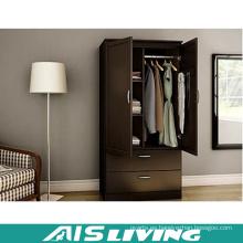 Armario de armario de dormitorio de madera contrachapada con 2 puertas y 2 cajones (AIS-W261)