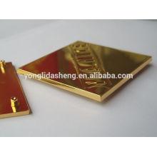 Placa de metal decorativo de placa de metal de liga de zinco personalizado / placa de logotipo de metal