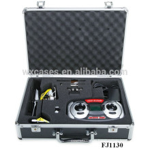 popular aluminum helicopter carrying case with custom foam insert high quality