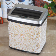Leather Covered Sensor Waste Bin for Home/Office/Hotel (A-16LC)