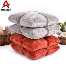 2pcs Flanell Fleece Quadrat dekorative Plüsch Großhandel Boden Kissen
