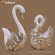 home table adornment elegant design resin animal theme swan figures