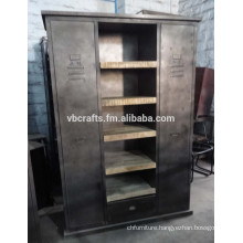 Industrial Cabinet With Wooden Shelve