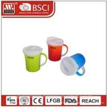 Plastik Kaffeebecher mit Deckel 0,37 L