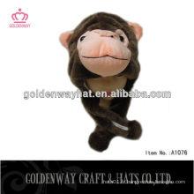 Chapeau de singe casquettes en peluche en forme d'animal