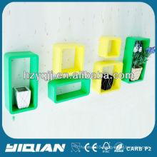 Modern High Gloss Home Decor Shelf Wall Mounted Dedroom Cube Shelf