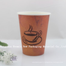 Coupe de papier à café monobloc personnalisée jetable