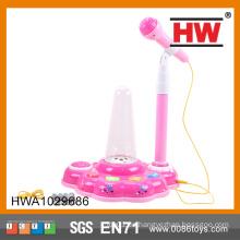 Hot Selling Kunststoff lustig mit Licht und Musik Kinder Spielzeug Mikrofon