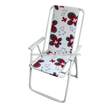 Portable outdoor foldable armrest folding garden chair, tailgate chair, folding low chair